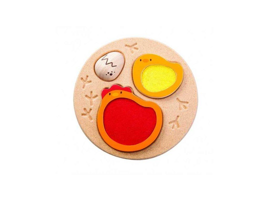PlanToys Puzzle životní cyklus kuřete