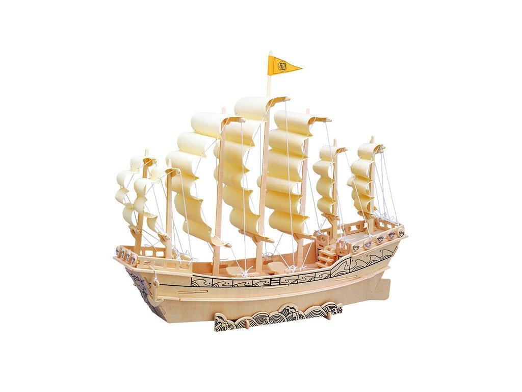 Woodcraft Dřevěné 3D puzzle loď plachetnice P131