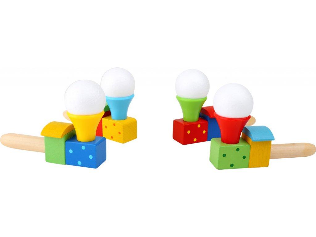 Small Foot Dřevěná hra foukací míč vlak1 ks