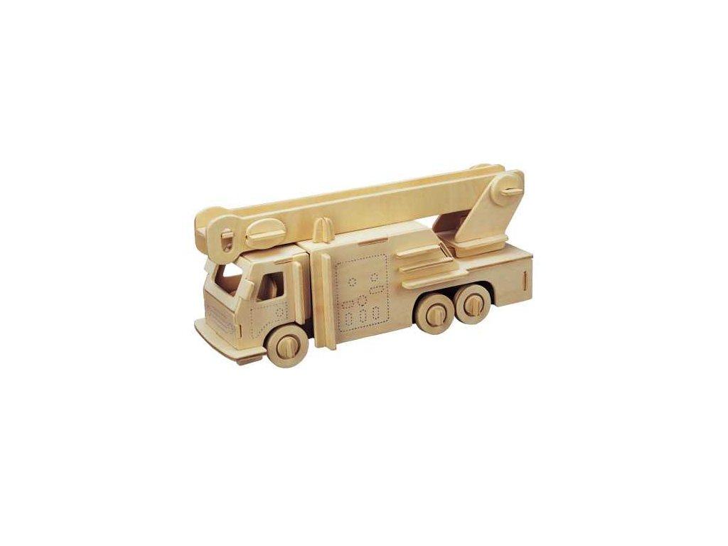 Woodcraft Dřevěné 3D puzzle hasiči