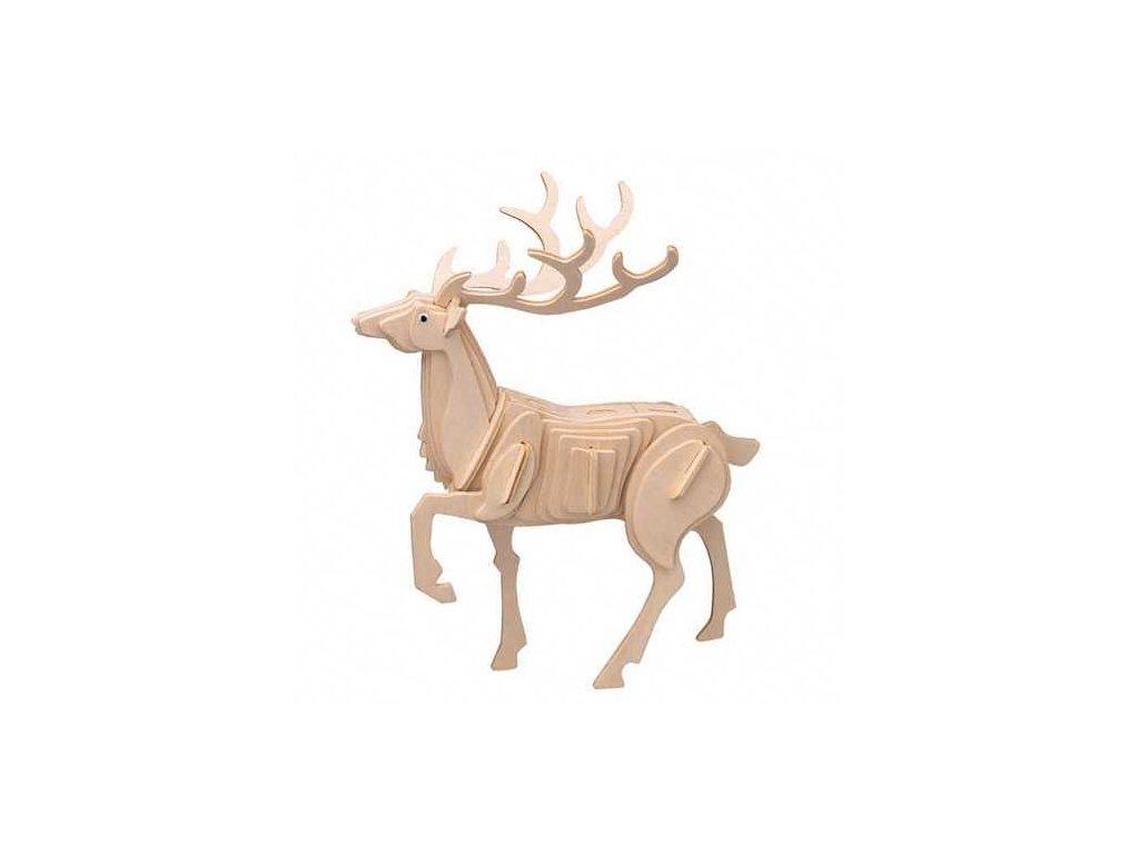 Woodcraft Dřevěné 3D puzzle jelen