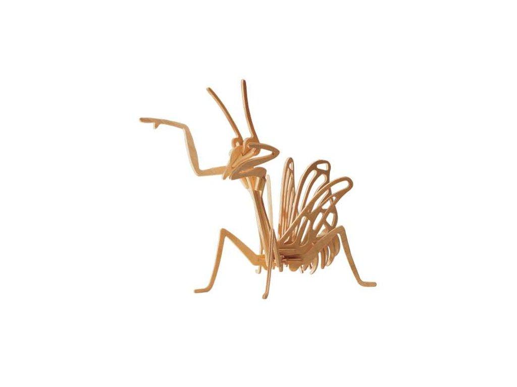 Woodcraft Dřevěné 3D puzzle kudlanka