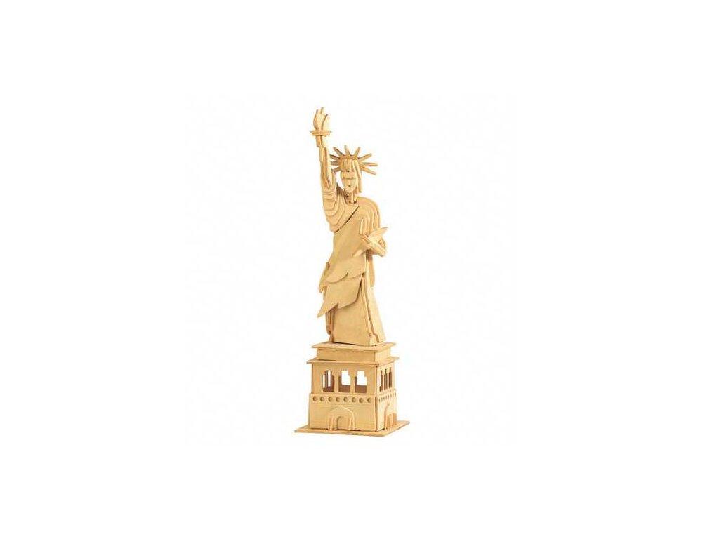 Woodcraft Dřevěné 3D puzzle slavné budovy socha svobody