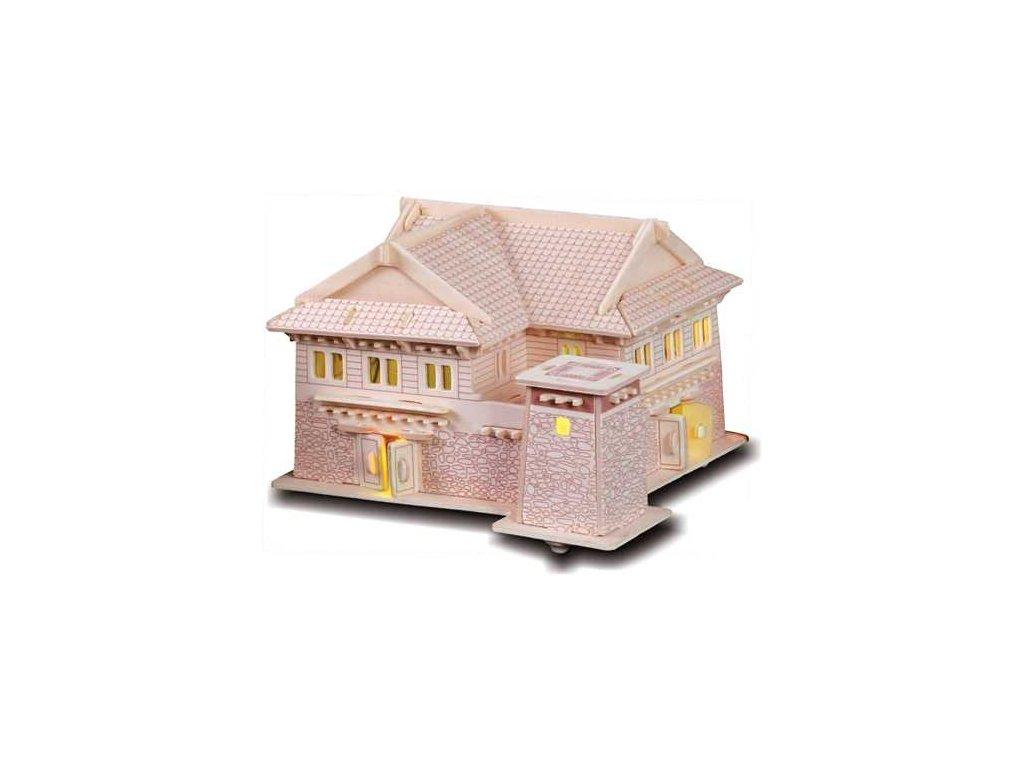 Woodcraft Dřevěné 3D puzzle Tibetský dům II