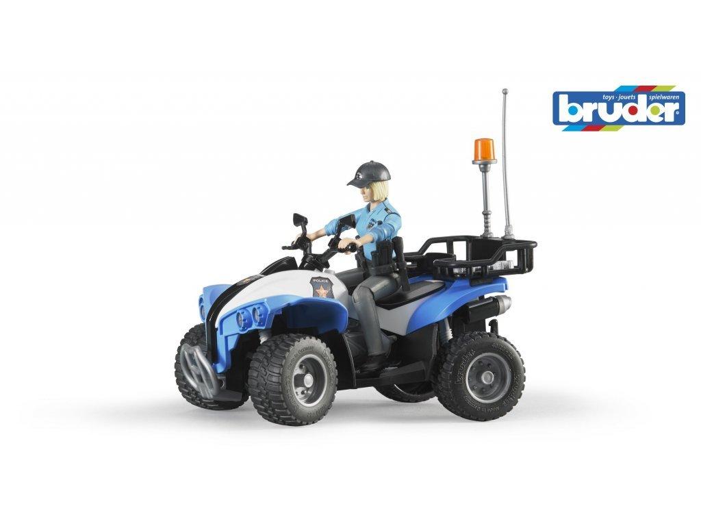 Bruder BWORLD modrá čtyřkolka policie s figurkou