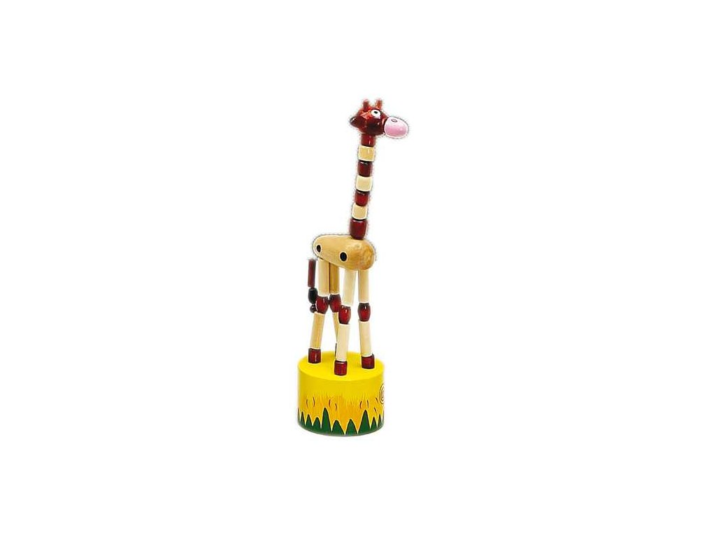 HJ Toys Tancující žirafa hnědá