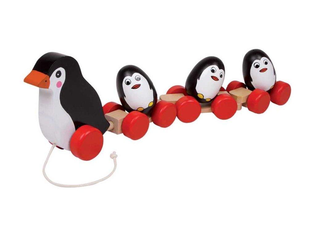 Small Foot Rodinka tučňáků na provázku