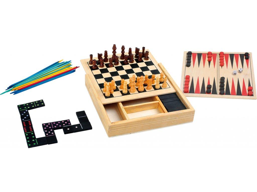 Small Foot Dřevěné hry Klasické hry 4v1