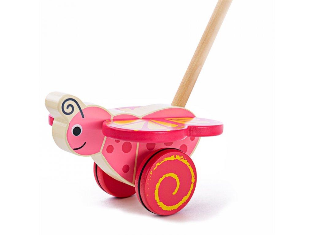 Bigjigs Baby Dřevěný jezdík Motýlek
