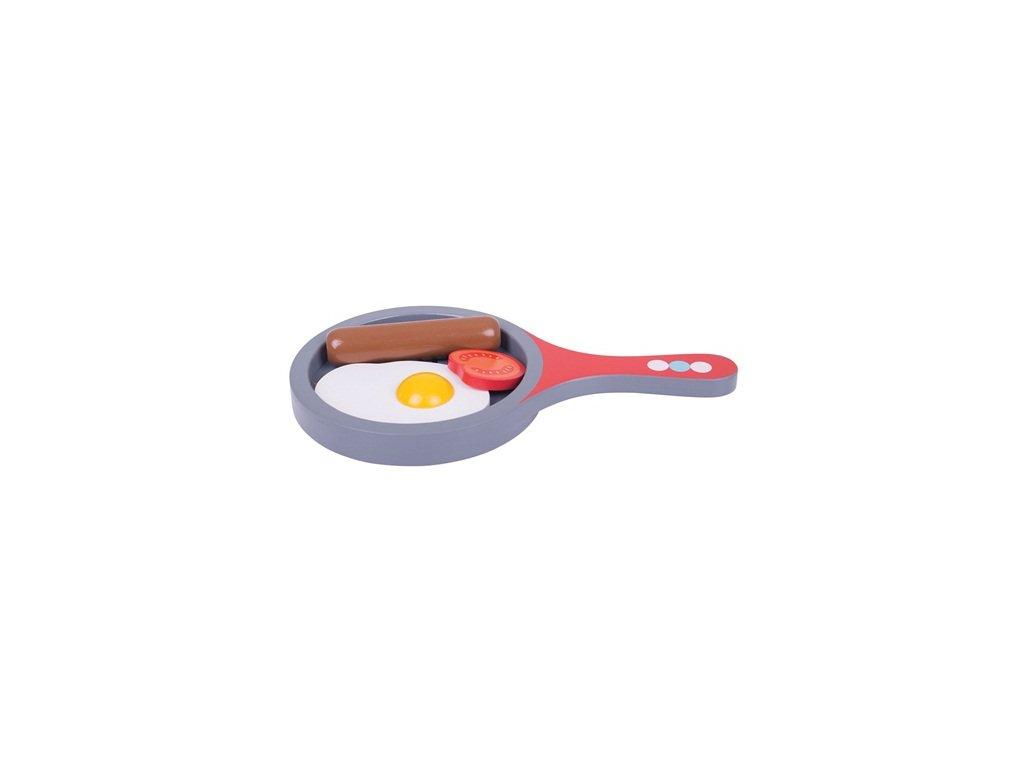 Bigjigs Toys Pánvička se snídaní