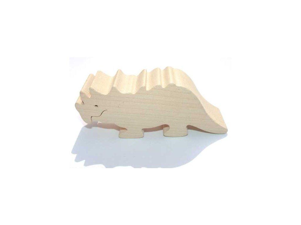 Fauna Dřevěné zvířátko Triceratops