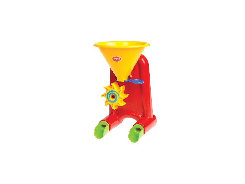 Gowi Mini mlýn na vodu a písek červený