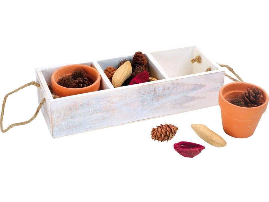 Small Foot Dekorační krabička s přírodninami