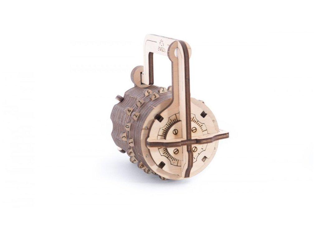 Ugears 3D dřevěné mechanické puzzle Zámek