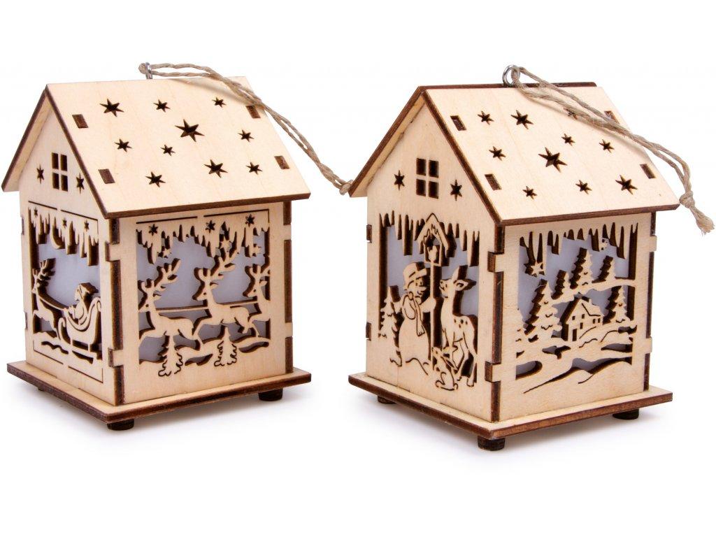 Small Foot Vánoční dekorace lucerna domek 2 ks