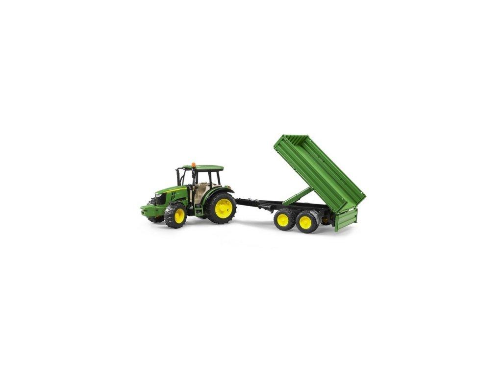 Bruder Traktor John Deere s valníkem
