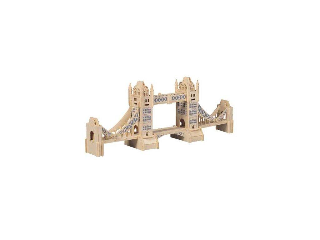 Woodcraft Dřevěné 3D puzzle slavné budovy Tower Bridge