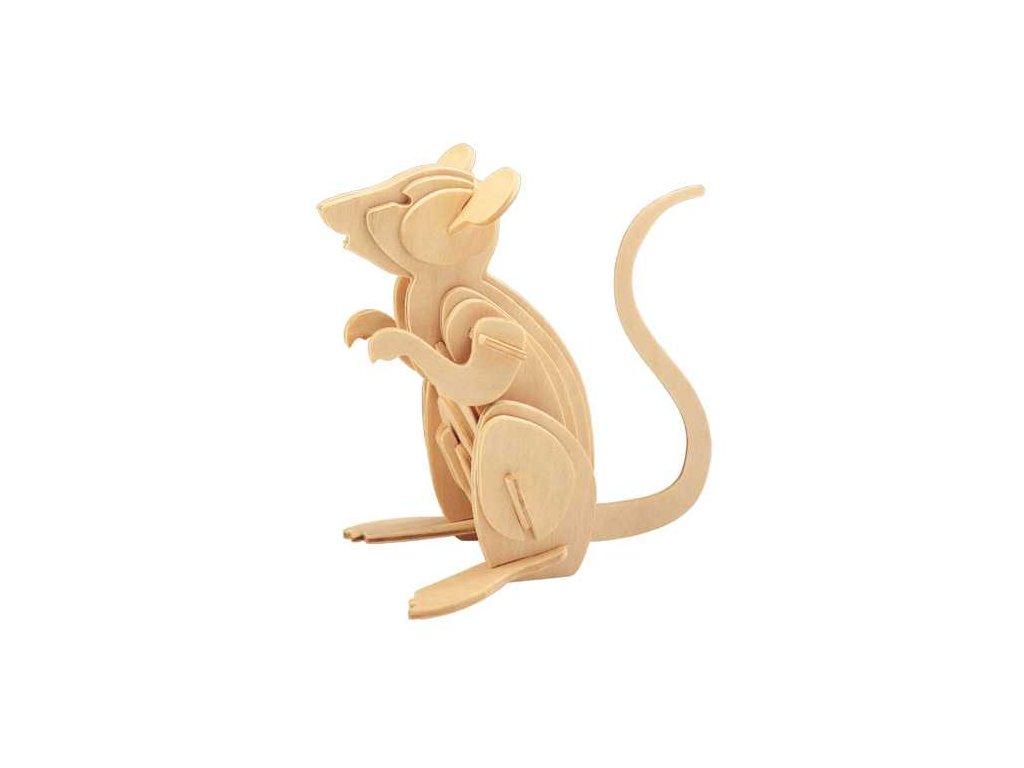 Woodcraft Dřevěné 3D puzzle myš