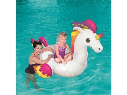 Dětské nafukovací křesílko Bestway unicorn - bílá