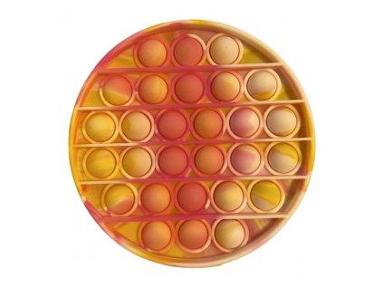 Pop It antistresová hračka kruh oranžovorůžová