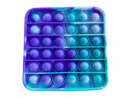 Pop It antistresová hračka čtverec fialovozelená