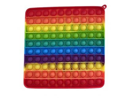 Pop It Rainbow antistresová hračka čtverec JUMBO 20 cm