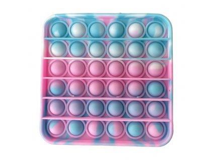 Pop It antistresová hračka čtverec tyrkysovorůžová