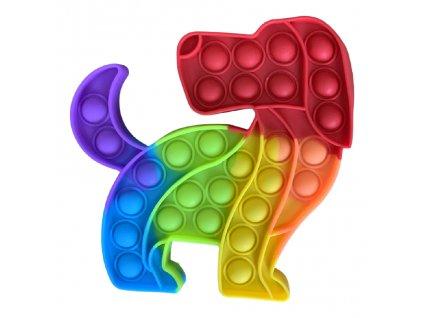 Pop It Rainbow antistresová hračka pejsek