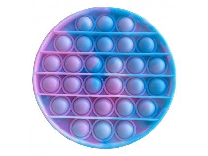 Pop It antistresová hračka kruh tyrkysovorůžový