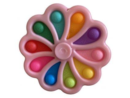 Pop It antistresová hračka fidget spinner růžový