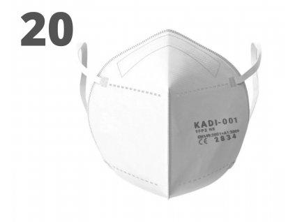 Respirátor FFP2 KADI 001 (20ks)