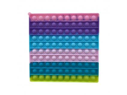 Pop It antistresová hračka čtverec fialovorůžový JUMBO 20 cm