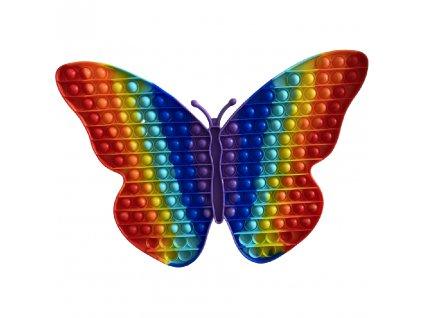 Pop It Rainbow antistresová hračka motýl JUMBO XXL 40 cm