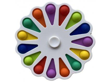 Pop It antistresová hračka fidget spinner bílý velký 16cm