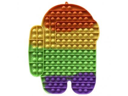 Pop It Rainbow antistresová hračka Among Us JUMBO XXL 30 cm