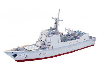RoboTime Dřevěná skládačka útočná loď Destroyer