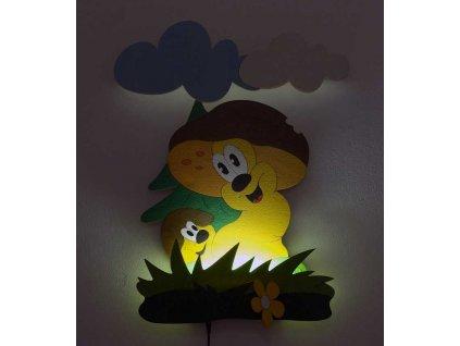 DoDo Dětská LED lampička hříbci