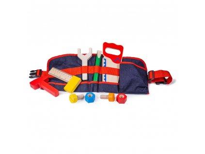 Bigjigs Toys Dřevěné nářadí na červeném opasku