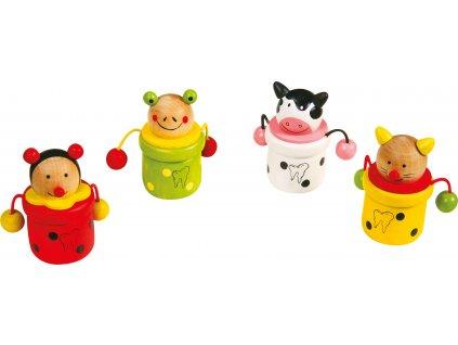 Dřevěné hračky - Krabička na mléčné zoubky zvířátka Kočka Dřevěné hračky - Krabička na mléčné zoubky zvířátka Kočka