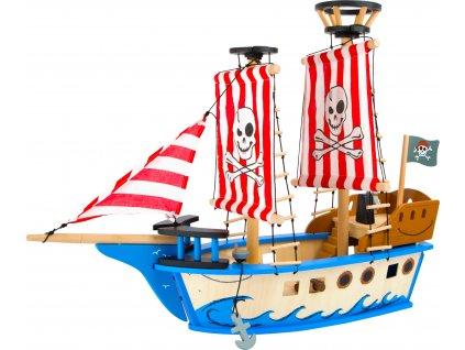 Small Foot Dřevěná hračka pirátská loď Jack