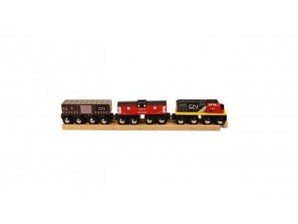Bigjigs Rail CN nákladní vlak + koleje poškozený obal