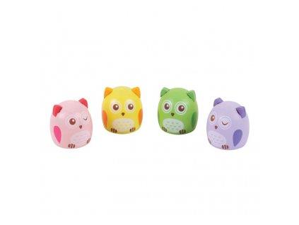 Bigjigs Toys ořezávátko sovička 1ks fialová Bigjigs Toys ořezávátko sovička 1ks fialová