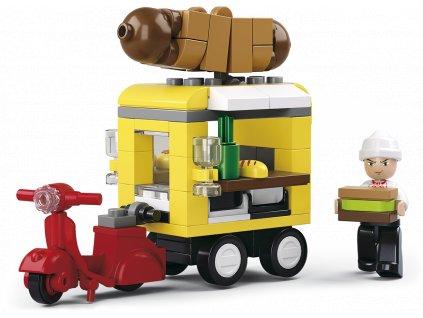Sluban Town Business street M38-B0565 Hot-dog vůz