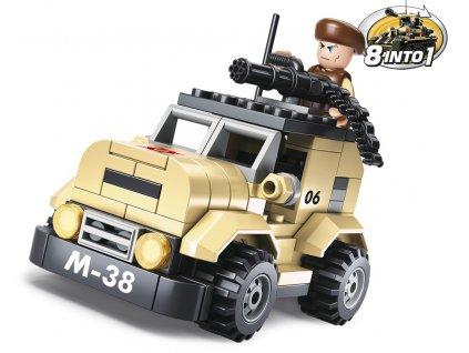 Sluban Army 8into1 M38-B0587A Hlídkový vůz