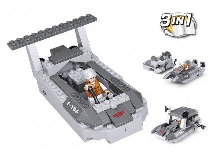 Sluban Army 9into1 M38-B0537D Vyloďovací člun 3v1