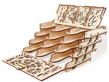 Ugears 3D dřevěné mechanické puzzle Kazeta na sběratelské karty