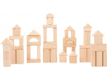 Small Foot Dřevěná stavebnice 50 ks přírodní