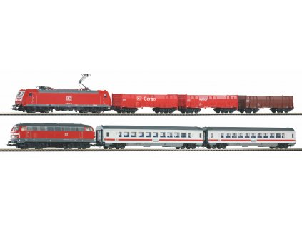 Piko Startovací sada Osobní a nákladní vlak Traxx a BR 218 DB AG VI - 59013