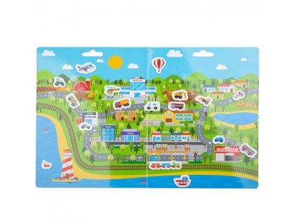 Bigjigs Toys Znovu použitelné samolepky doprava ve městě