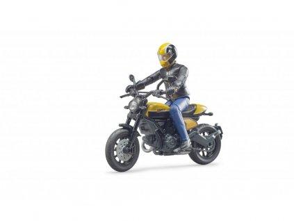 Bruder 63053 BWORLD Motocykl Scrambler Ducati Cafe Racer s jezdcem